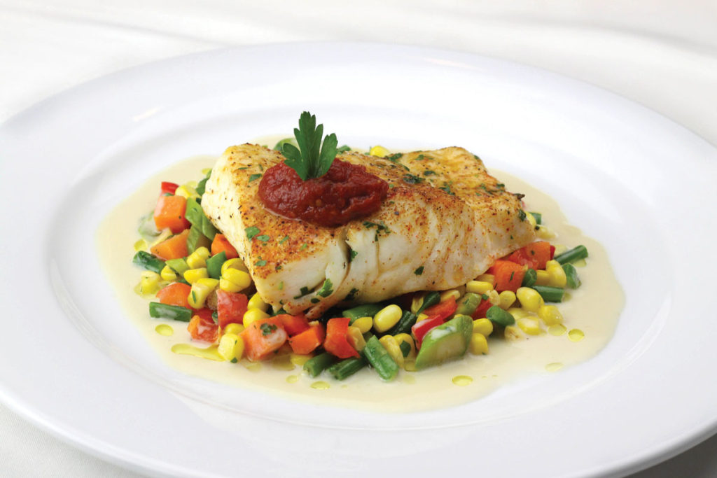 Alaskan Halibut with Summer Vegetables