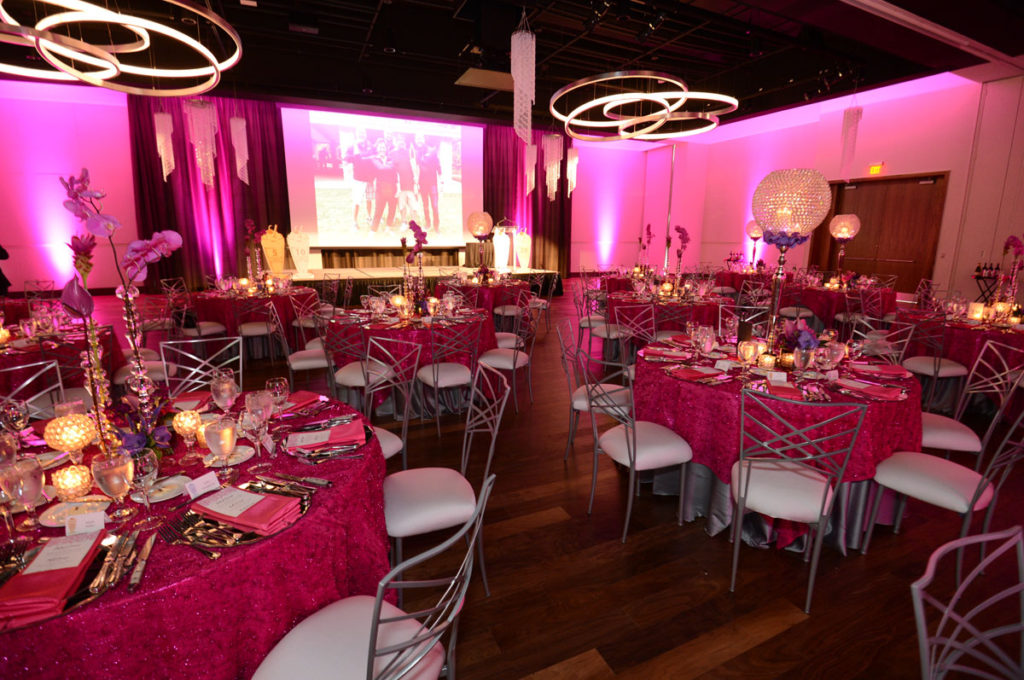 A photo of a decorated special event