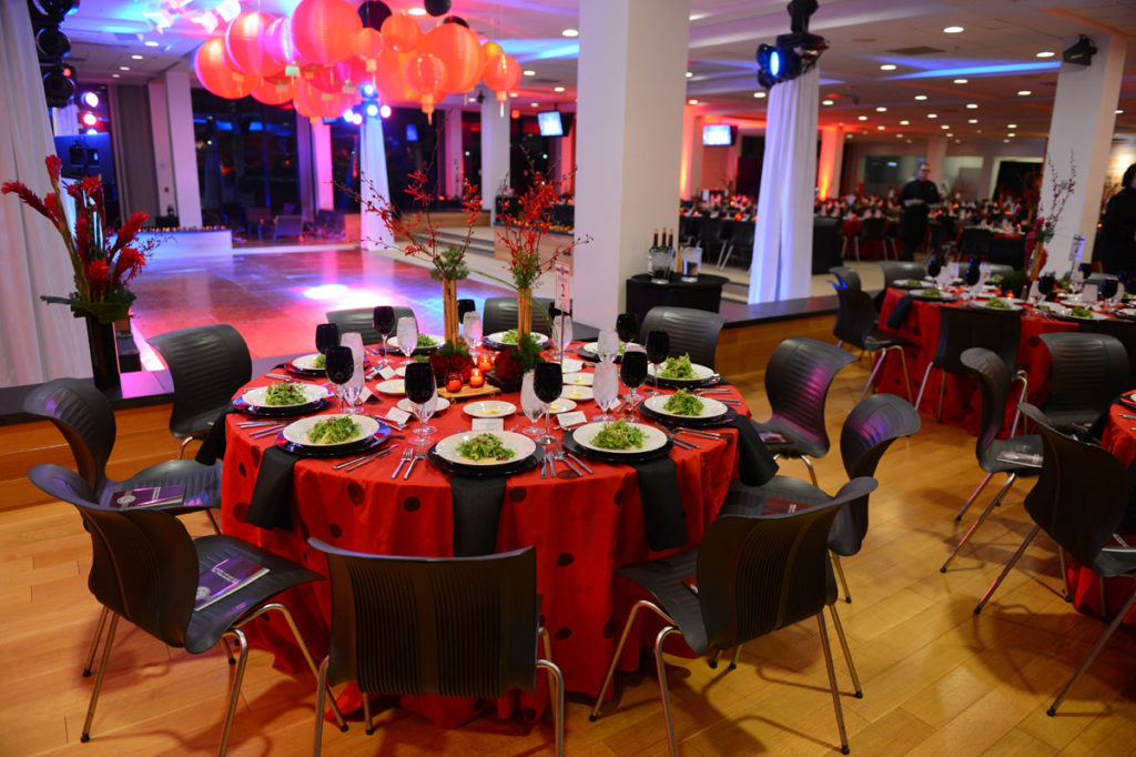 A photo of a corporate event decorations