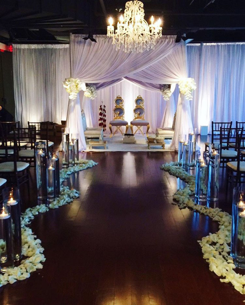 Cameron Mitchell wedding event decorations
