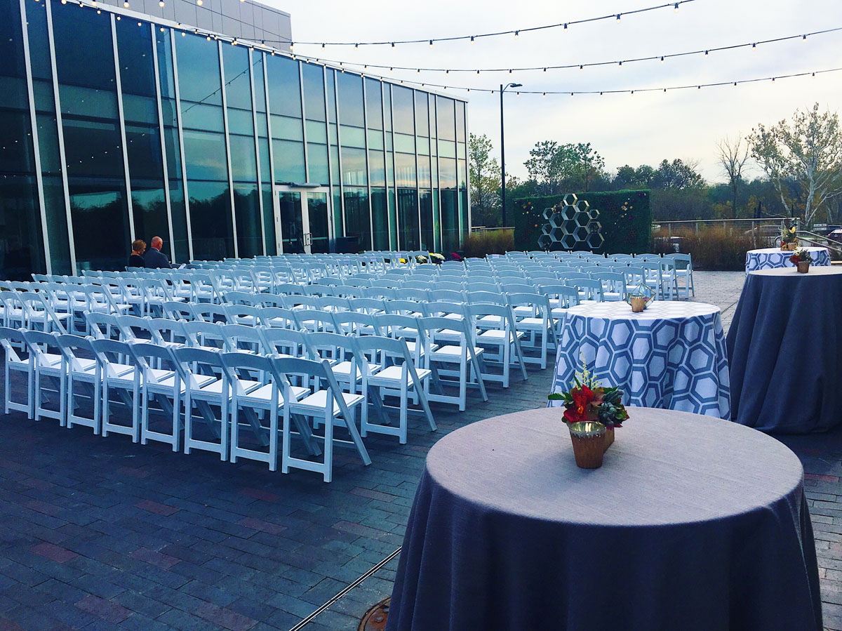 A photo of a Cameron Mitchell wedding event