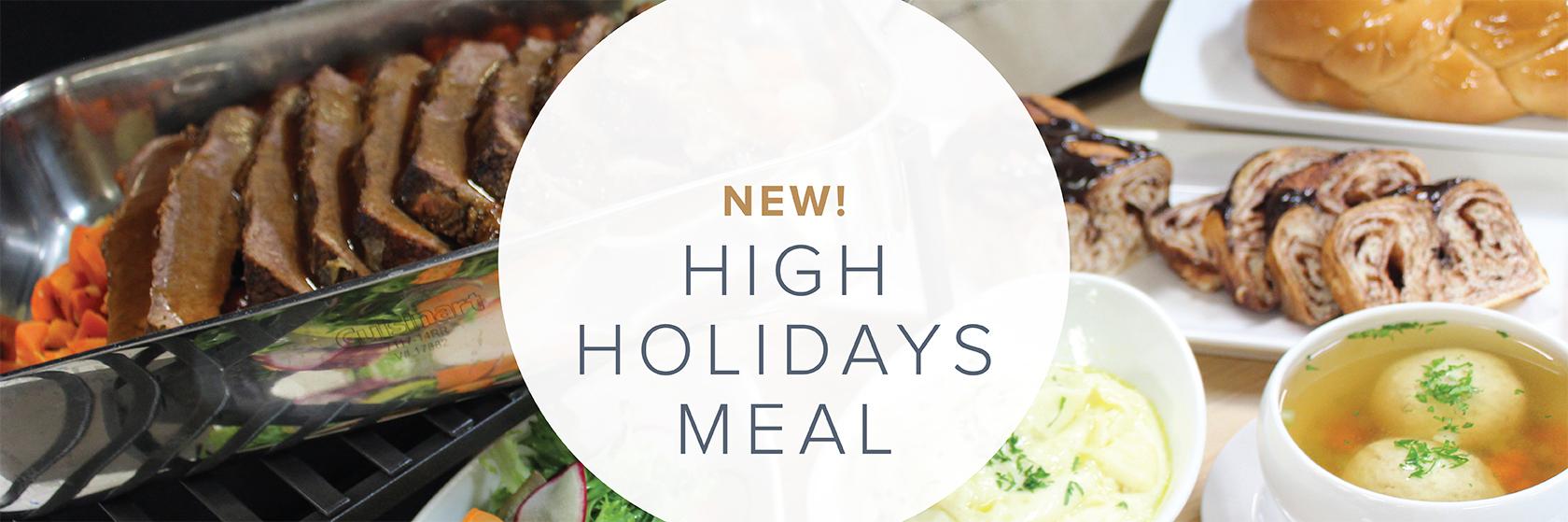 High Holidays Meal